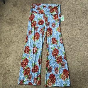 Honey & Lace Bellgarden Floral Palazzo Pants 3XL